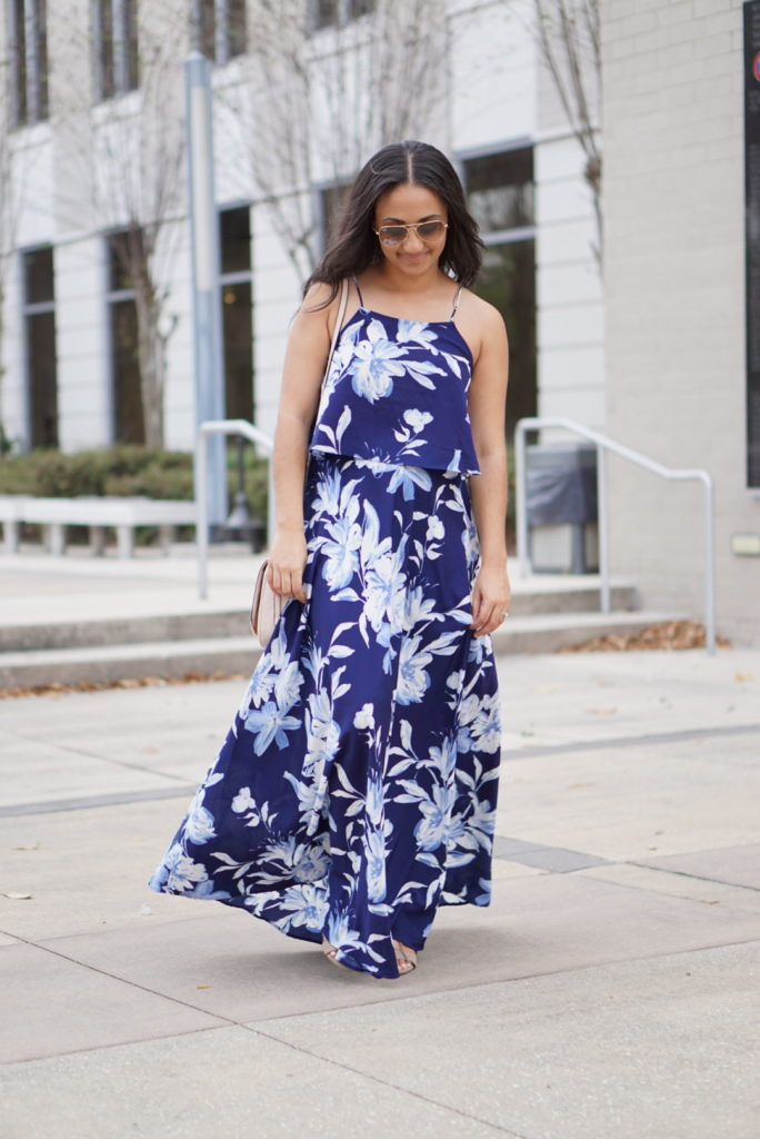 Blue Floral Birthday #OOTD- Monique McHugh